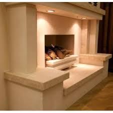Travertine Fireplace Hearth - tunnel limestone and travertine fireplace u0026 fire