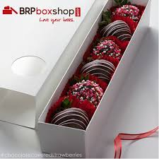 gift boxes for chocolate covered strawberries 3189 12 x 2 1 4 x 2 white white macaron box base only