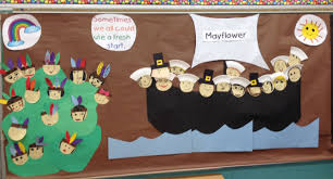 the pilgrims first thanksgiving by ann mcgovern first thanksgiving mural thanksgiving pinterest thanksgiving