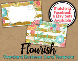 floral glitter business card 2 sided glitter chevron