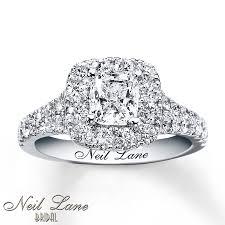 neil engagement ring 2 1 6 ct tw diamonds 14k white gold - Neil Engagement Ring
