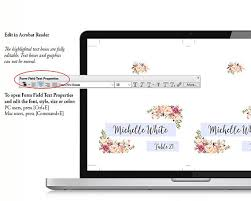 wedding place cards place card template editable reserved
