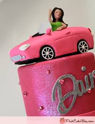 car cake toppers pink car topper cupcake tower celebration cakes