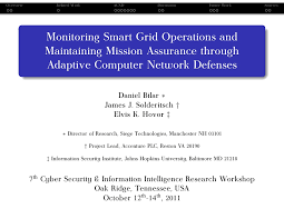 siege areas assurances monitoring smart grid operations and maintaining mission assurance th