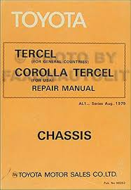 1980 1982 toyota corolla tercel engine repair shop manual original