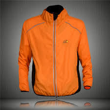 fluorescent waterproof cycling jacket orange rain jacket promotion shop for promotional orange rain