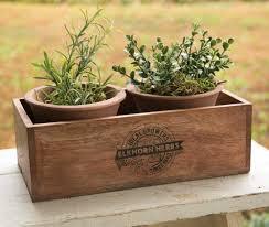 herbs planter elkhorn herbs planter with two pots u2013 primitive star quilt shop