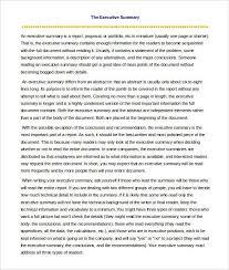 1 page executive summary template executive summary template of