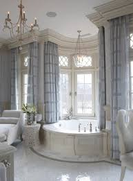 how high to hang curtains 9 foot ceiling gorgeous details in this master bathroom elegant master bath in