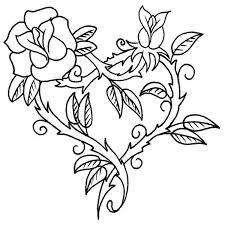 imagenes para colorear rosas imagenes de rosas para dibujar search gato pinterest para