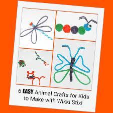 easy animal crafts for kids to create with wikki stix wikki stix