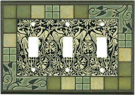 craftsman style light switches arts and crafts ceramic light switch plates outlet covers