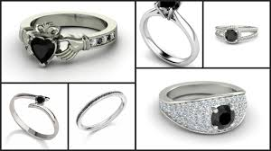 ring models for wedding platinum with black diamond ring models for wedding black