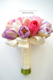 Tulip Bouquets Pastel Love Toronto Sophisticated Wedding Flowers And Decor