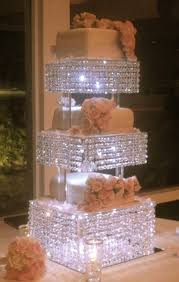 bling cake stand lit up bling stand awesome lighted wedding cake stands 1