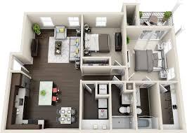 The Azure Floor Plan by Floor Plans Ocean Blue Apartments