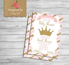 pink and gold baby shower invitations baby shower invitation princess baby shower pink and gold