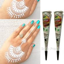 3 59 1pc white henna tattoo cream cone temporary body art mehandi