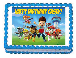 edible images for cakes paw patrol party decoration edible cake image cake topper