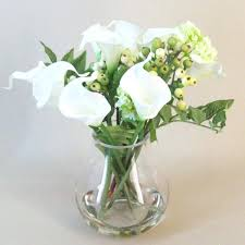 silk calla lilies fashionable artificial calla lilies in vase calla and berries
