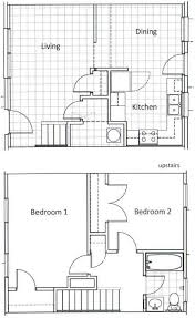 Upstairs Floor Plans by 2 4 Bed Apartments Douglass Village