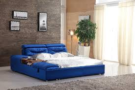 King Size Bed With Frame Unique King Size Blue Farbic Bed Frame 0414 601 In Beds From