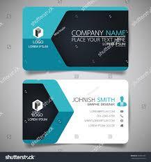blue hexagon modern creative business card stock vector 569951932
