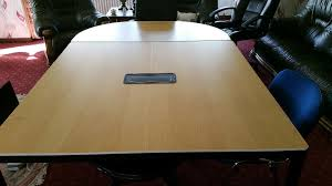 Ikea Bekant Conference Table Ikea Meeting Table Square Half Moon Section Condition
