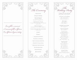 tri fold program tri fold wedding program templates photos exle resume