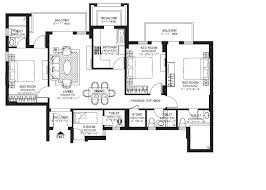 Dlf New Town Heights Sector 90 Floor Plan 3 Bhk Semi Furnished Apartment For Rent In Sector 90 Gurgaon