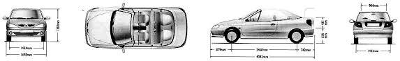 renault trafic dimensions 2000 renault megane cabriolet blueprints free outlines