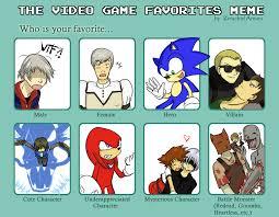 Meme Video Game - meme video game favorites characters by shigerugal on deviantart