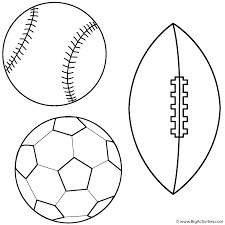 Baseball Soccer Ball And Football Coloring Page Father S Day Football Coloring Page