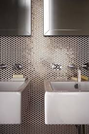 penny round tile bathroom room design ideas