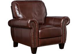 balencia dark brown leather recliner recliners brown
