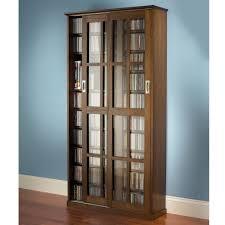 Dvd Storage Cabinets Wood by The Sliding Door 666 Cd 300 Dvd Library Hammacher Schlemmer