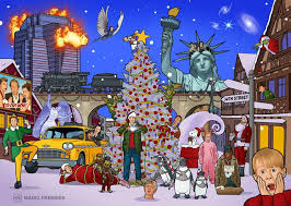there are clues to 25 christmas movies in this picture can you