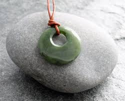 jade necklace pendant images Mens canadian nephrite jade go go donut pendant with leather jpg
