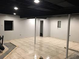 exposed black dryfall basement ceiling finishing basement