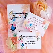 Fairytale Wedding Invitations Romantic Orange Flower And Butterfly Fairytale Wedding Invitation
