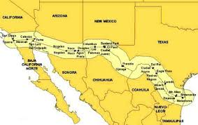 map usa mexico border us mexican border us history for