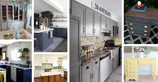 refinishing kitchen cabinets ideas 25 best kitchen cabinet and furniture painting ideas for 2021