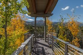 zen like contemporary breckenridge house boasts viewing deck and