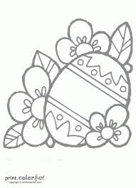 Easter Egg Decorating Coloring Pages by Decorated Easter Egg Coloring Page Print Color Fun