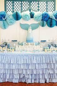 Cookie Monster Baby Shower Decorations Kara U0027s Party Ideas Whale Themed Baptism Birthday Party Kara U0027s