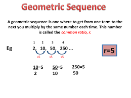 geometric sequence and series by nerys packwood teaching