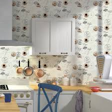 papier peint 4 murs cuisine papier peint vinyle 100 coffee coloris écru gris acier papier