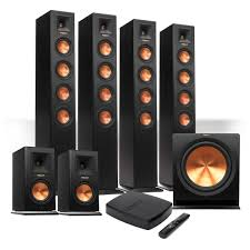 klipsch reference home theater system klipsch reference premiere hd wireless 6 1 speaker system with hd