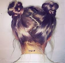 hairstyles that have long whisps in back and short in the front awesome try out the rising hair trend space buns this spring break