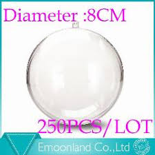 1000 piece 60 millimiter christmas transparent clear ball